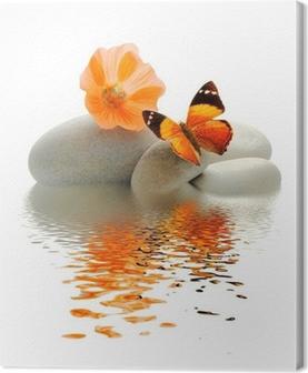 Canvas Papillon galet