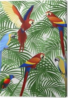 Canvas Parrot vogel