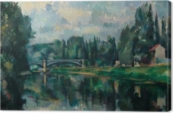 Canvas Paul Cézanne - De oevers van de Marne bij Creteil