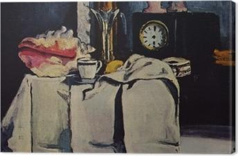 Canvas Paul Cézanne - De zwart marmeren klok
