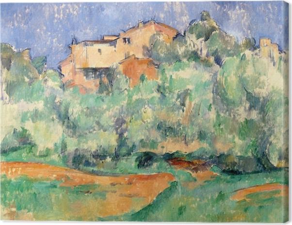 Canvas Paul Cézanne - Het huis in Bellevue - Reproducties