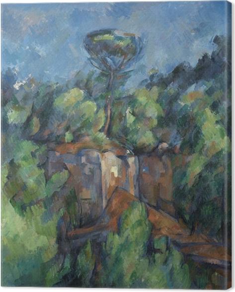 Canvas Paul Cézanne - Steengroeve Bibémus - Reproducties