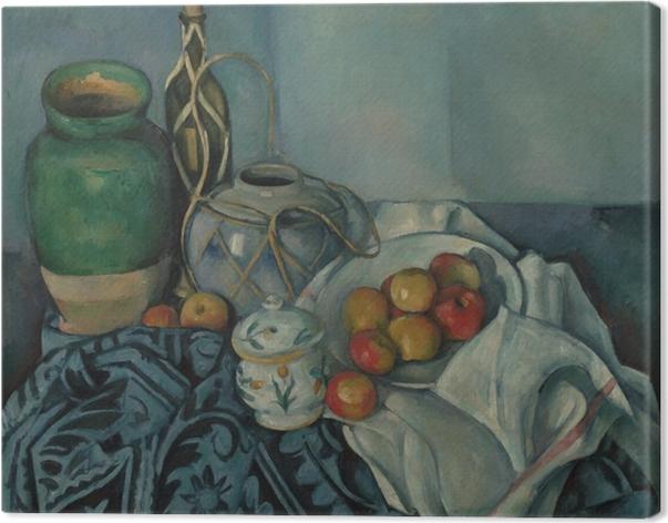 Canvas Paul Cézanne - Stilleven met appels - Reproducties