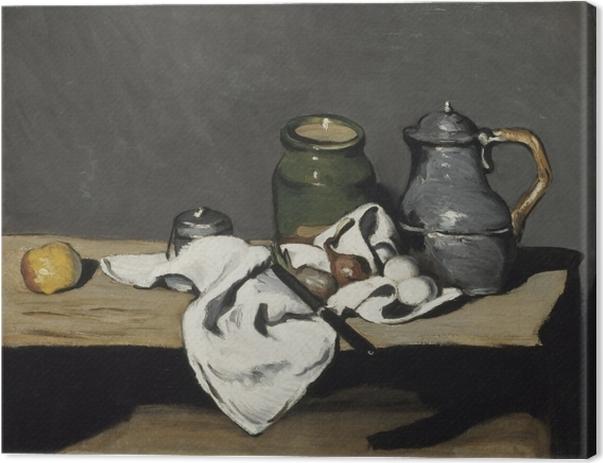 Canvas Paul Cézanne - Stilleven met een kruik - Reproducties