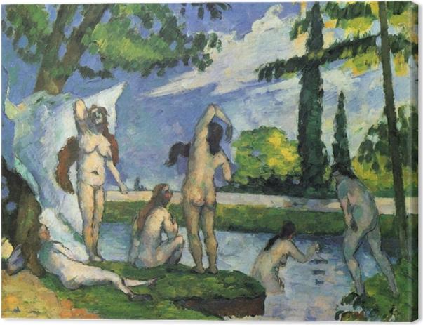 Canvas Paul Cézanne - Studie van de badenden - Reproducties
