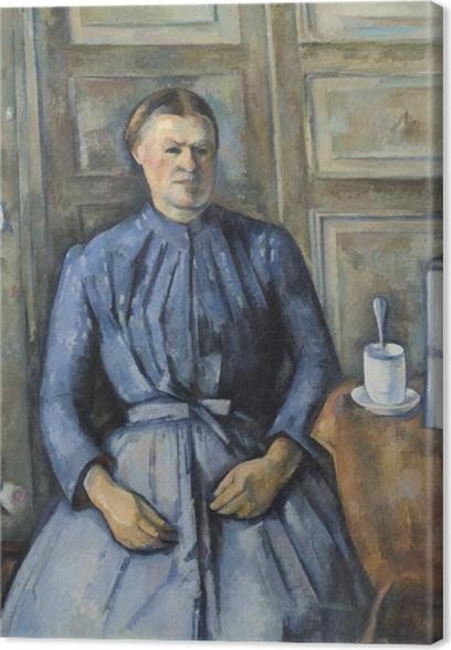 Canvas Paul Cézanne - Vrouw met koffiepot - Reproducties