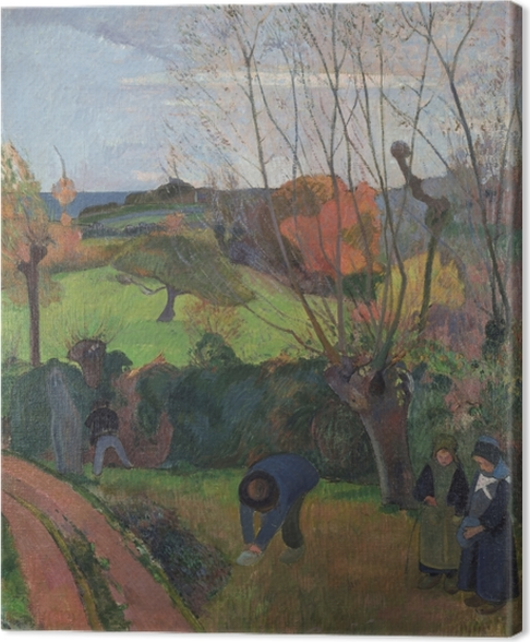 Canvas Paul Gauguin - De wilgen - Reproducties