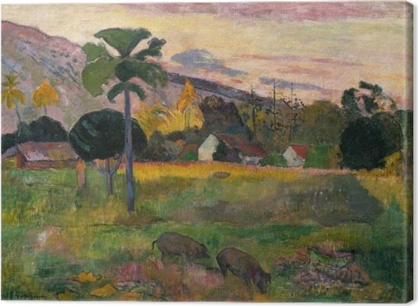 Canvas Paul Gauguin - Haere mai (Kom hier) - Reproducties