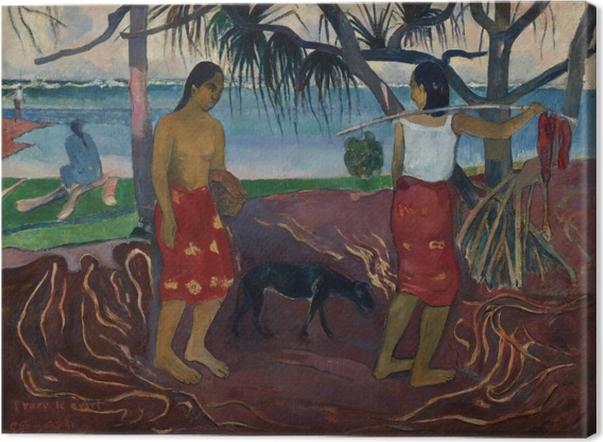 Canvas Paul Gauguin - I raro te oviri (Onder de Pandanus) - Reproducties