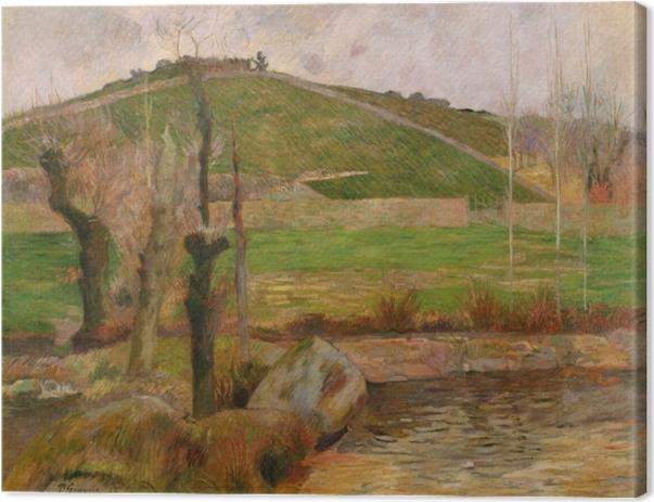 Canvas Paul Gauguin - Landschap in de buurt van Pont-Aven - Reproducties