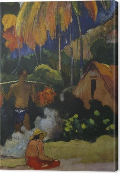 Canvas Paul Gauguin - Mahana Maa (Landschap op Tahiti) - Reproducties
