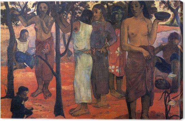 Canvas Paul Gauguin - Nave Nave Mahana (Heerlijke dag) - Reproducties