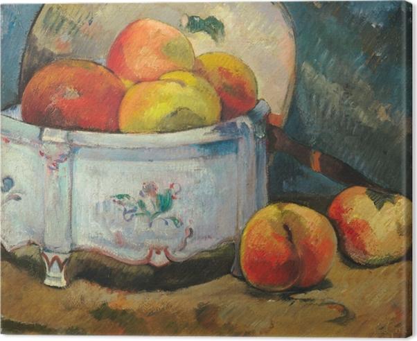 Canvas Paul Gauguin - Stilleven met perziken - Reproducties