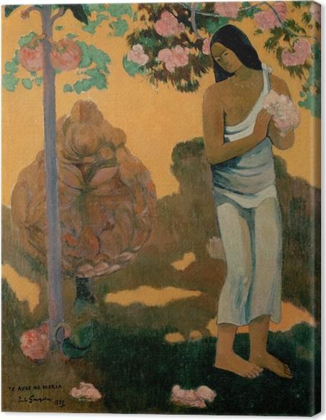Canvas Paul Gauguin - Te avae no Maria (De maand van Marie) - Reproducties