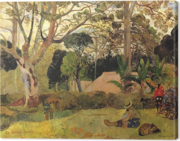 Canvas Paul Gauguin - Te Raau Rahi (De grote boom) - Reproducties