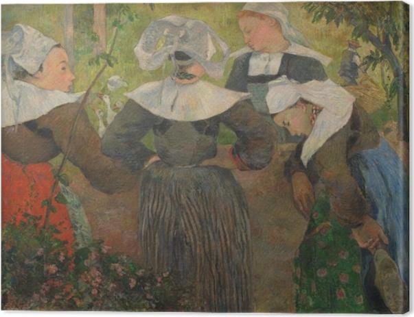 Canvas Paul Gauguin - Vier Bretonse Vrouwen - Reproducties