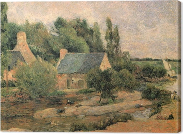 Canvas Paul Gauguin - Wasvrouwen in Pont-Aven - Reproducties