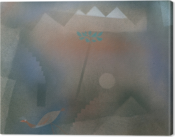 Canvas Paul Klee - Abwandernder Vogel - Reproducties