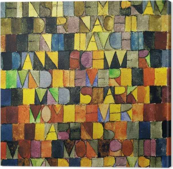 Canvas Paul Klee - Einst dem Grau der Nacht enttaucht - Reproducties