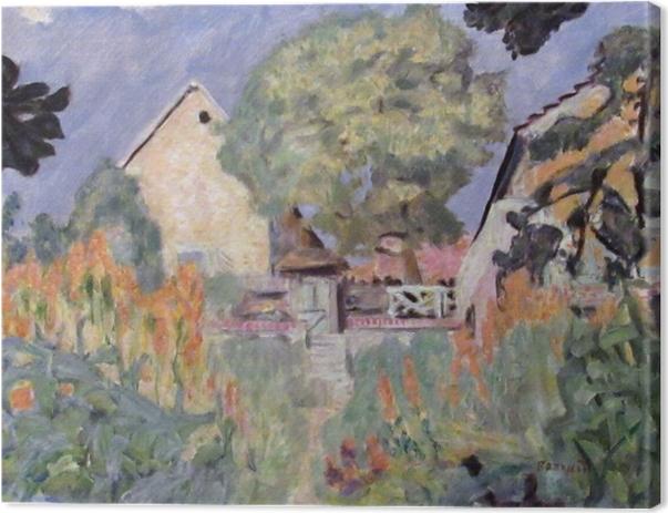 Canvas Pierre Bonnard - Můj dům ve Vernonu - zahrada - Reproductions