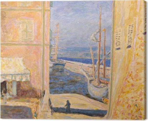 Canvas Pierre Bonnard - Výhled na starý přístav v Saint-Tropez - Reproductions
