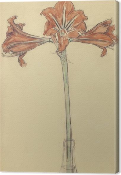 Canvas Piet Mondriaan - Amaryllis - Reproducties