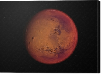 Canvas Planète mars