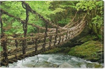 Canvas Pont de lianen et bambou Kazura-bashi à Oku Iya, Shikoku