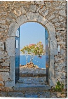 Canvas Poort in Palamidi Fort, Nafplio, Griekenland