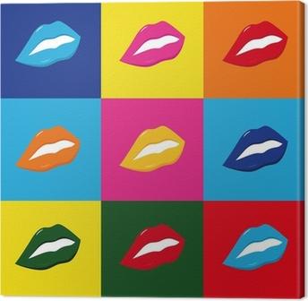 Canvas Pop art lippen