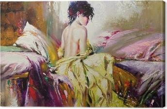 Canvas Portret van het naakt meisje