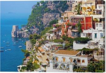 Canvas Positano, Italië. Amalfi Coast