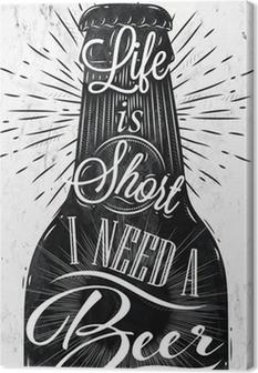 Canvas Poster vintage bier