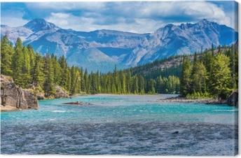 Canvas Prachtig Canadees berglandschap