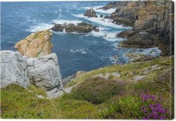 Canvas Prachtige kust kliffen in Bretagne Frankrijk