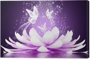 Canvas Prachtige lotusbloem