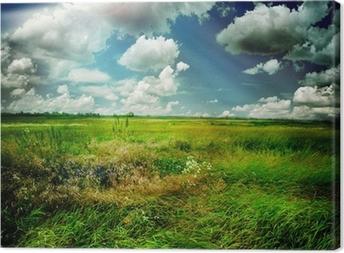 Canvas Prachtige natuur Landelijk Landschap