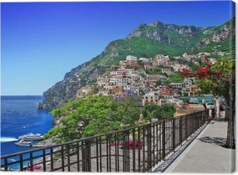 Canvas Prachtige Positano, Amalfi kust van Italië