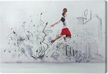 Canvas premium Basketballer