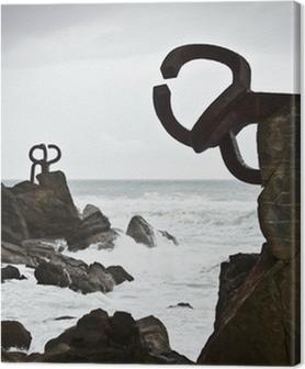 Canvas premium Com van de wind (Peine del Viento) - San Sebastian - Guipuzkoa