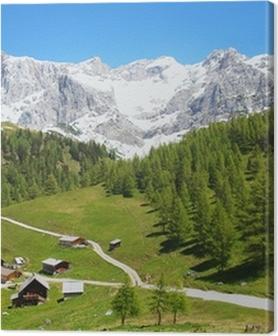 Canvas premium Dachstein berg in de Oostenrijkse Alpen, Oostenrijk