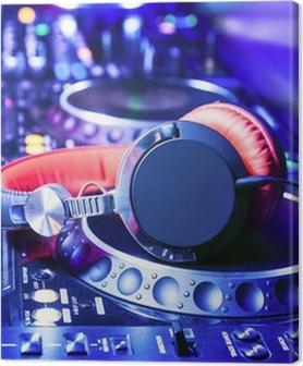 Canvas premium Dj mixer met een koptelefoon