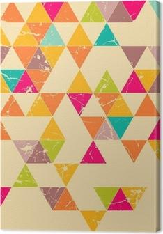 Canvas premium Driehoeken grunge naadloze patroon