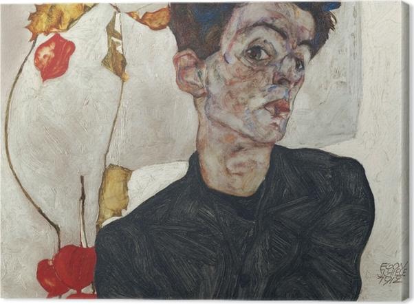Canvas premium Egon Schiele - Zelfportret - Reproducties
