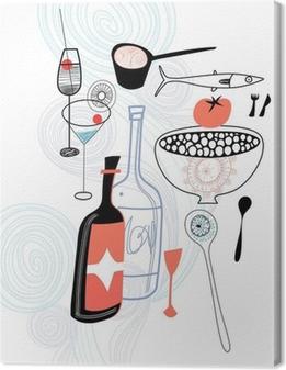 Canvas premium Eten en drinken