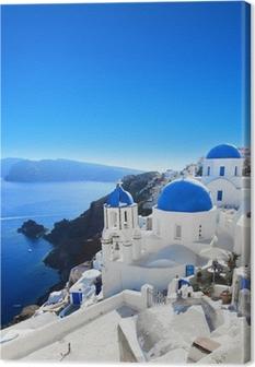 Canvas premium Grèce - Santorini (Oia dorp)