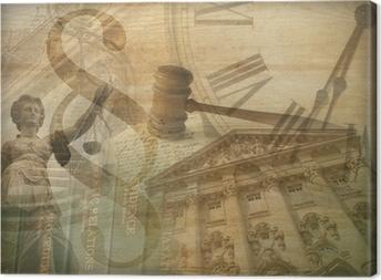 Canvas premium Justitie Collage
