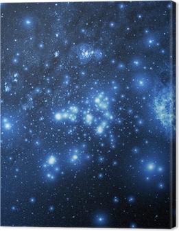 Canvas premium Melkweg (Collage van beelden van www.nasa.gov)