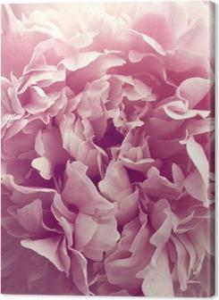 Canvas premium Pioenroos bloem
