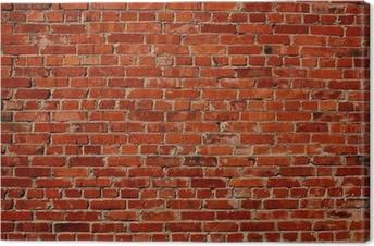 Canvas premium Rode bakstenen muur